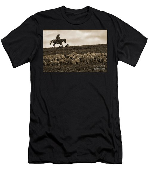 Days End Sheep Herding Men's T-Shirt (Athletic Fit)