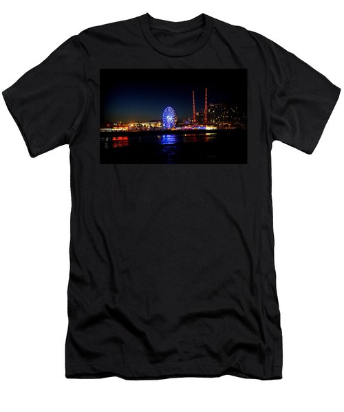 Men's T-Shirt (Slim Fit) featuring the photograph Daytona At Night by Laurie Perry