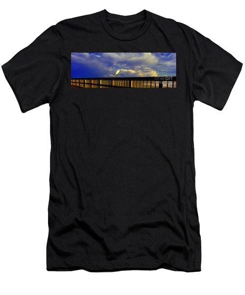 Daytona Beach Rail Bird Sun Glow Pier  Men's T-Shirt (Athletic Fit)