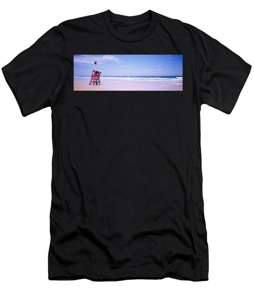 Daytona Beach Fl Life Guard  Men's T-Shirt (Athletic Fit)