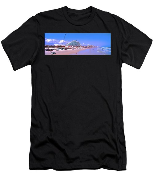 Daytona Main Street Pier And Beach  Men's T-Shirt (Athletic Fit)