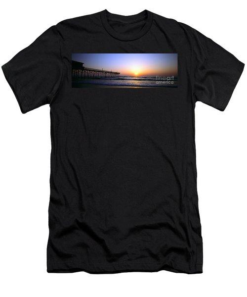 Men's T-Shirt (Slim Fit) featuring the photograph Daytona Sun Glow Pier  by Tom Jelen