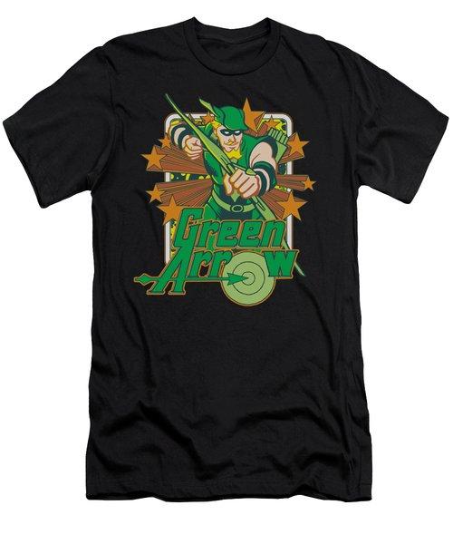 Dc - Green Arrow Stars Men's T-Shirt (Athletic Fit)