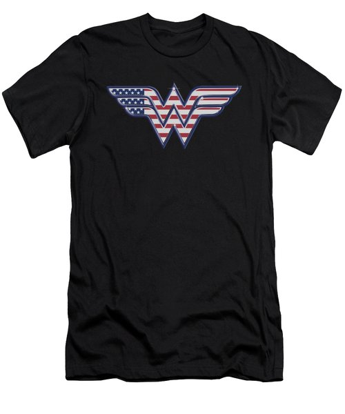 Dc - Red,white And Blue Men's T-Shirt (Athletic Fit)