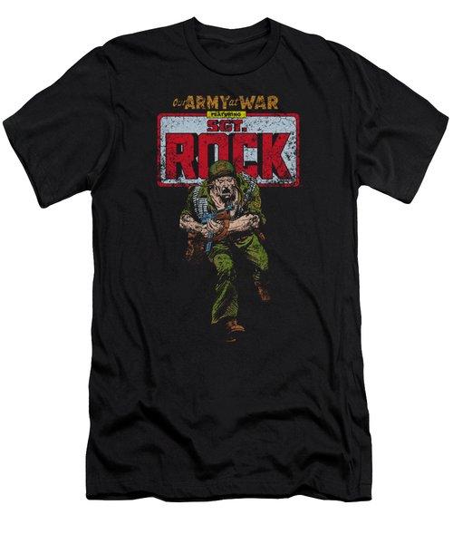 Dc - Sgt Rock Men's T-Shirt (Athletic Fit)