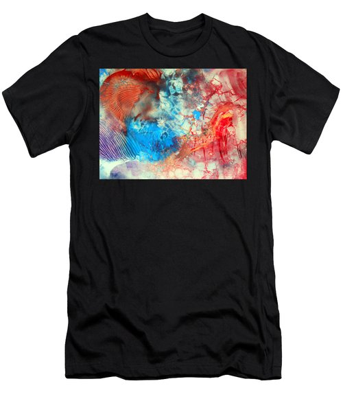 Decalcomaniac Colorfield Abstraction Without Number Men's T-Shirt (Athletic Fit)