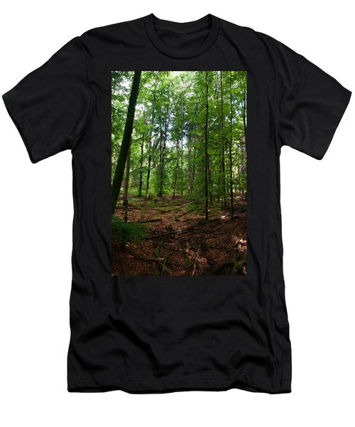 Deep Forest Trails Men's T-Shirt (Slim Fit) by Miguel Winterpacht