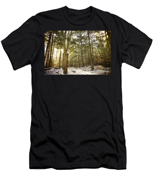 Men's T-Shirt (Slim Fit) featuring the photograph Deep In The Forest by Alana Ranney