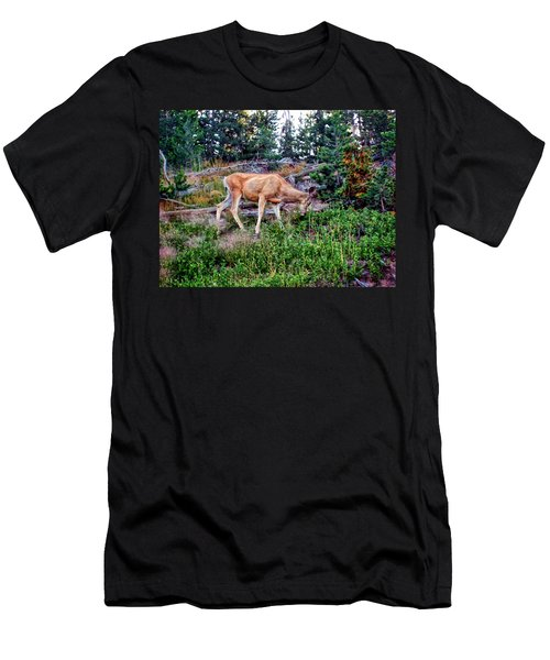 Men's T-Shirt (Slim Fit) featuring the photograph Deer 1 by Dawn Eshelman
