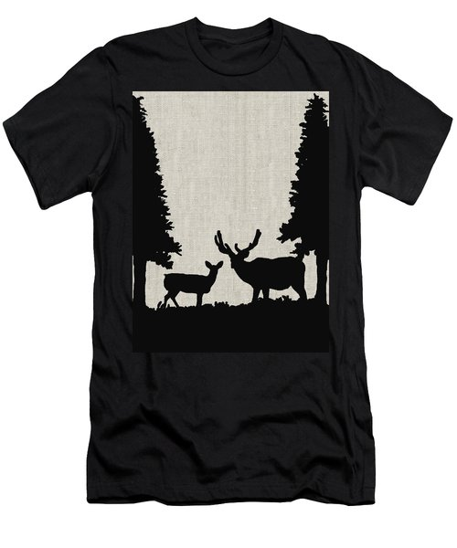Deer In Forest Men's T-Shirt (Athletic Fit)