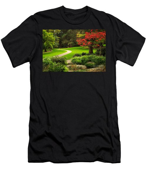 Deer In Lithia Park Men's T-Shirt (Athletic Fit)