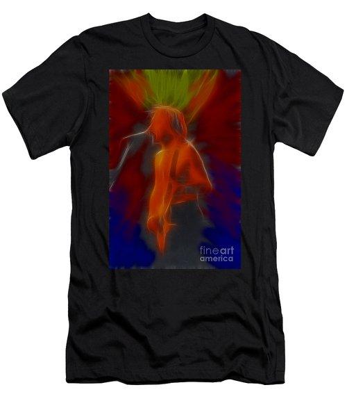 Def Leppard-adrenalize-gb13-phil-fractal Men's T-Shirt (Athletic Fit)