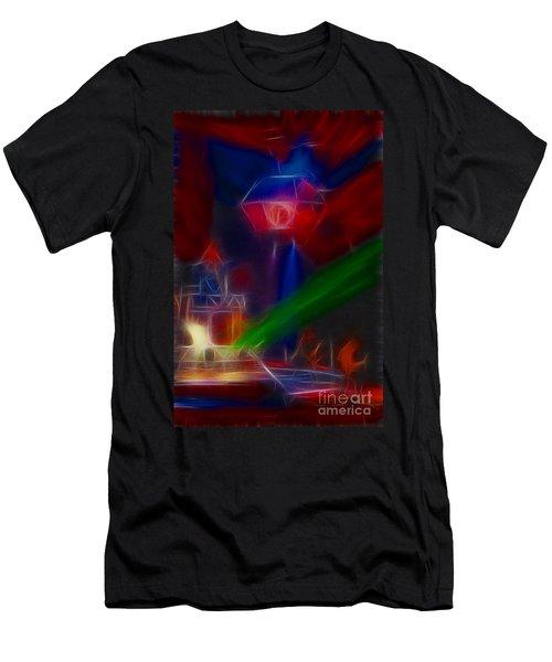Def Leppard-adrenalize-gf12-fractal Men's T-Shirt (Athletic Fit)