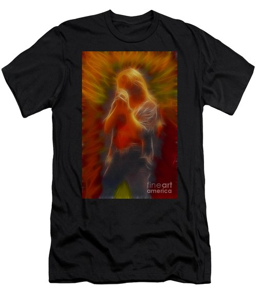 Def Leppard-adrenalize-joe-gb20-fractal Men's T-Shirt (Athletic Fit)