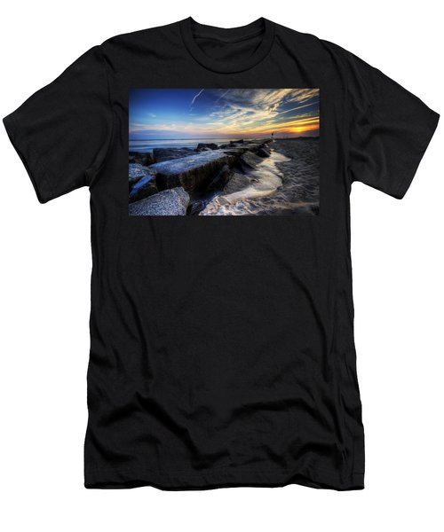 Delaware Sunrise At Indian River Inlet Men's T-Shirt (Athletic Fit)