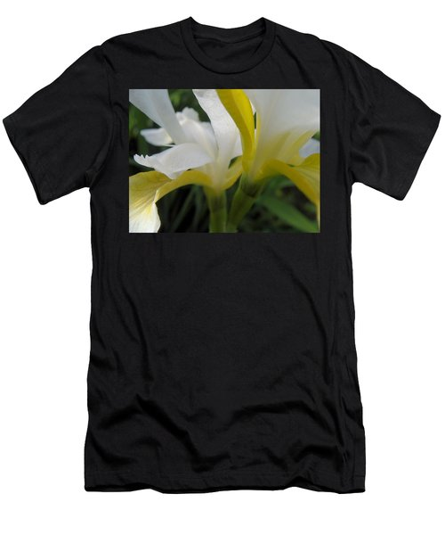 Men's T-Shirt (Slim Fit) featuring the photograph Delicate Iris by Cheryl Hoyle