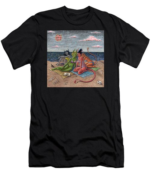 Demon Beaches Men's T-Shirt (Athletic Fit)