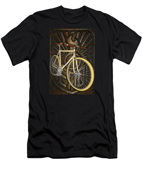 Men's T-Shirt (Slim Fit) featuring the painting Demon Path Racer Bicycle by Mark Howard Jones