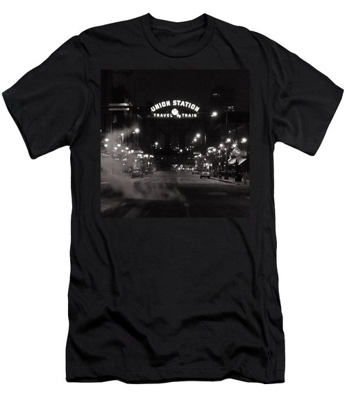 Denver Union Station Square Image Men's T-Shirt (Athletic Fit)