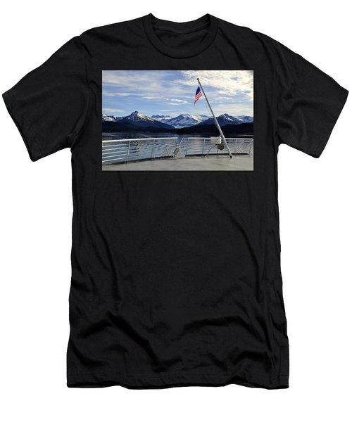 Departing Auke Bay Men's T-Shirt (Athletic Fit)