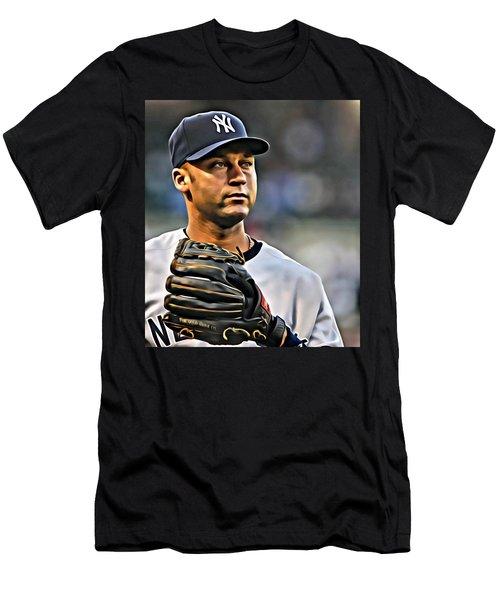 Derek Jeter Portrait Men's T-Shirt (Athletic Fit)