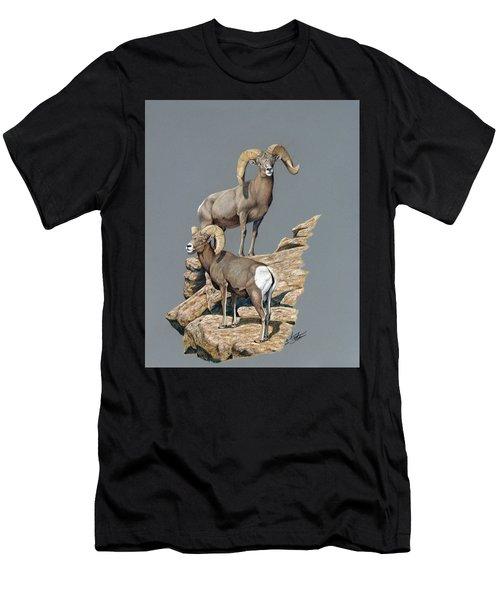 Desert Bighorn Rams Men's T-Shirt (Athletic Fit)
