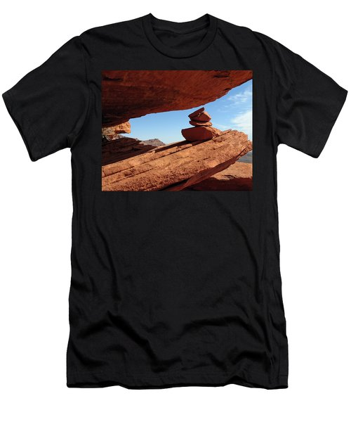 Men's T-Shirt (Slim Fit) featuring the photograph Desert Signpost by Alan Socolik