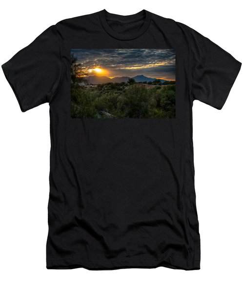 Men's T-Shirt (Slim Fit) featuring the photograph Desert Sunset by Dan McManus