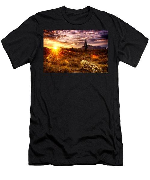 Desert Sunshine  Men's T-Shirt (Athletic Fit)