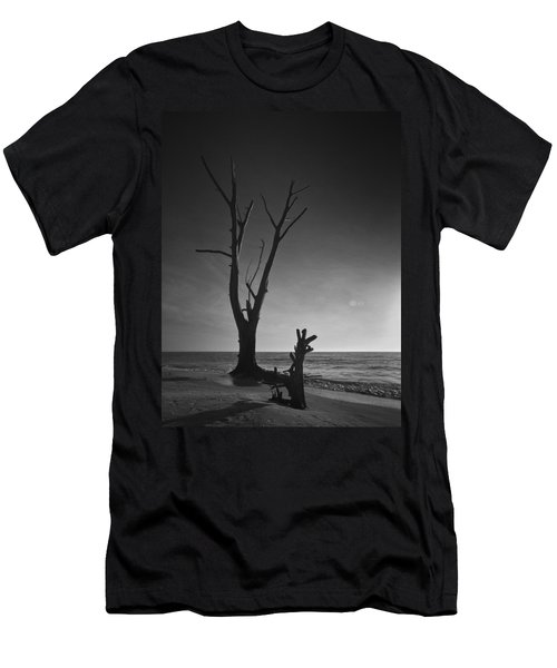 Deserted Beach Sunset Men's T-Shirt (Athletic Fit)