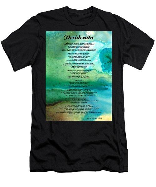 Desiderata 2 - Words Of Wisdom Men's T-Shirt (Athletic Fit)