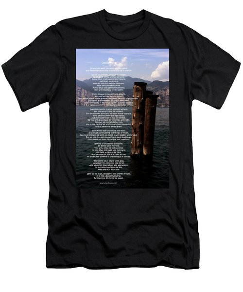 Desiderata On Lake View Men's T-Shirt (Athletic Fit)