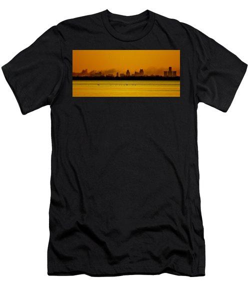 Detroit At Dawn Men's T-Shirt (Athletic Fit)