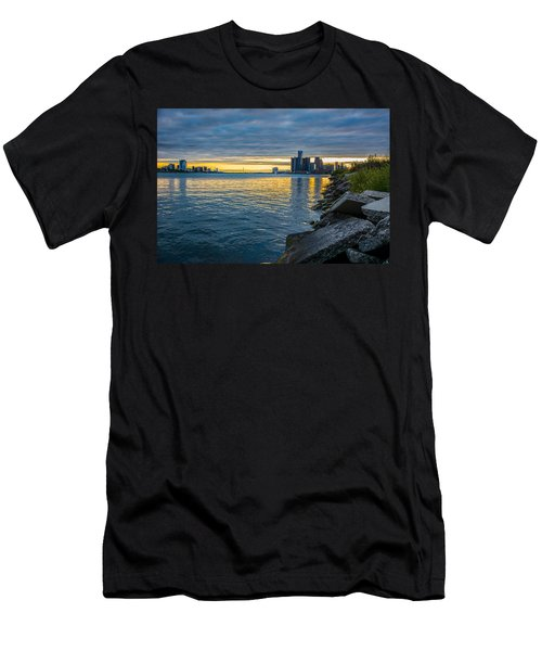 Detroit Sunset Men's T-Shirt (Athletic Fit)