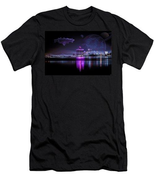 Men's T-Shirt (Slim Fit) featuring the photograph Detroit Worlds by Nicholas  Grunas