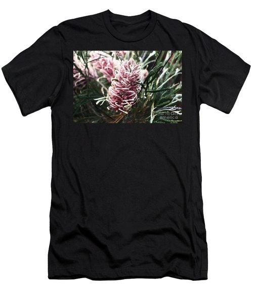 Dew Covered Grevillea Men's T-Shirt (Athletic Fit)