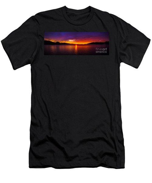 Dexter Lake Oregon Sunset 2 Men's T-Shirt (Athletic Fit)
