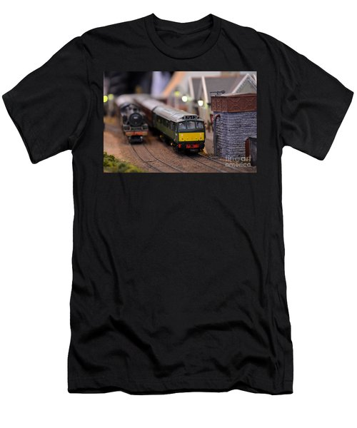 Diesel Electric Model Train Railway Engine Men's T-Shirt (Athletic Fit)