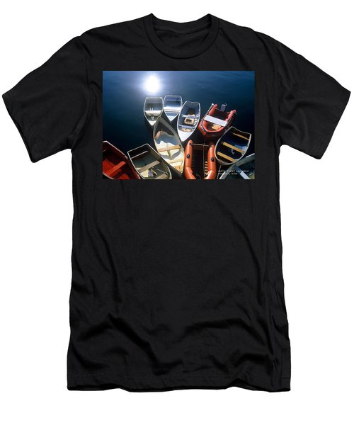 Men's T-Shirt (Slim Fit) featuring the photograph Dinghies And Rowboats - Maine by David Perry Lawrence
