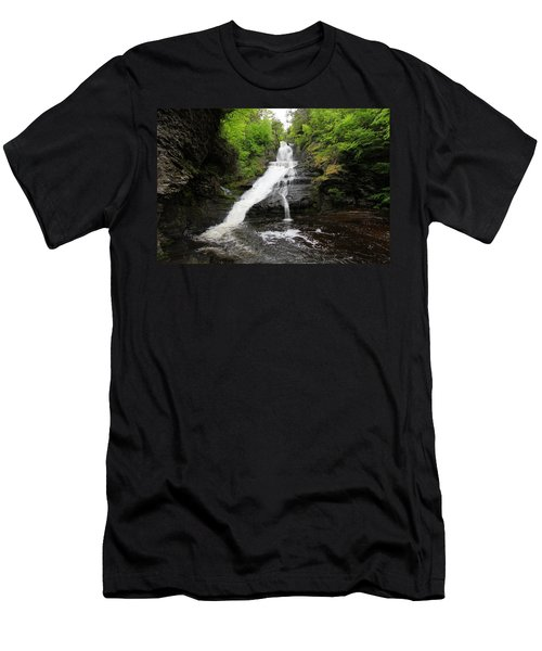 Men's T-Shirt (Slim Fit) featuring the photograph Dingmans Falls by Trina  Ansel