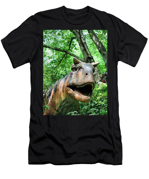Dinosaur Men's T-Shirt (Slim Fit) by Kristin Elmquist