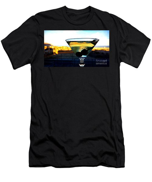 Dirty Martini On Beach Men's T-Shirt (Athletic Fit)