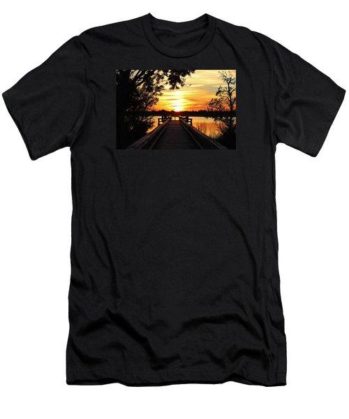 Disappearing Sun  Men's T-Shirt (Slim Fit) by Cynthia Guinn