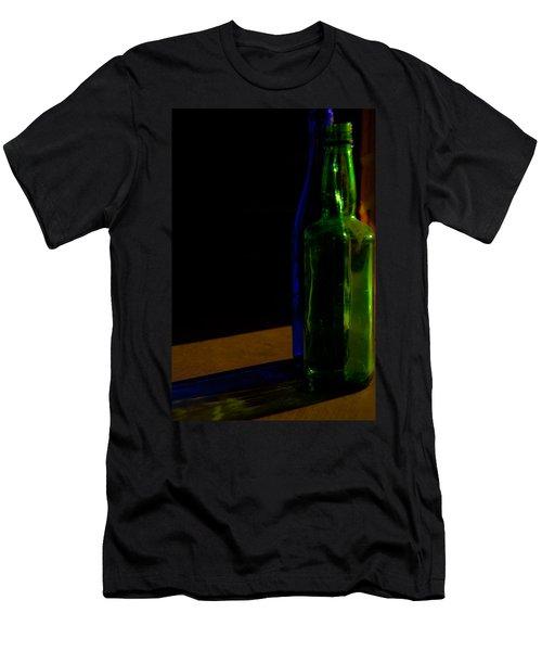 Discarded Bottles 2 Men's T-Shirt (Slim Fit) by Mark Alder