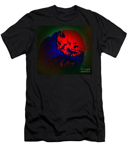 Men's T-Shirt (Slim Fit) featuring the painting Divide by Jacqueline McReynolds