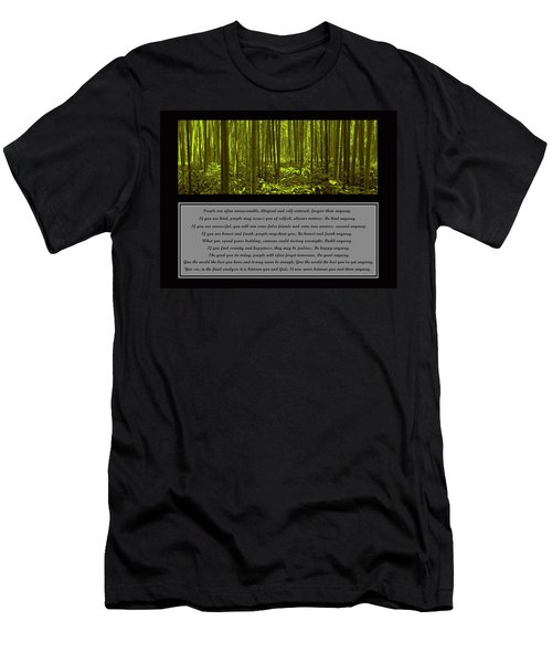 Do It Anyway Bamboo Forest Men's T-Shirt (Slim Fit) by David Dehner