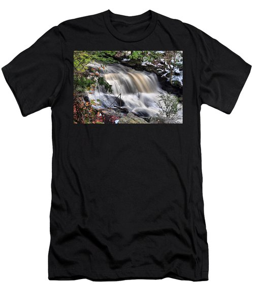 Doane's Lower Falls In Central Mass. Men's T-Shirt (Athletic Fit)