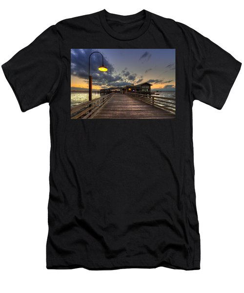 Dock Lights At Jekyll Island Men's T-Shirt (Athletic Fit)