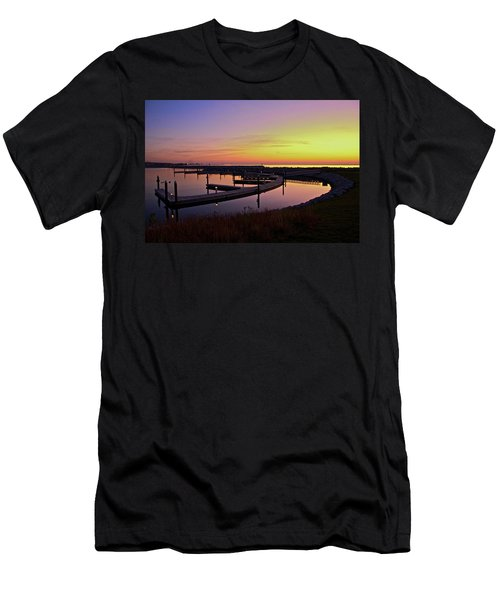 Docks At Sunrise Men's T-Shirt (Slim Fit) by Jonah  Anderson