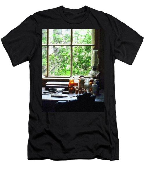 Doctor - Medicine And Hurricane Lamp Men's T-Shirt (Slim Fit) by Susan Savad